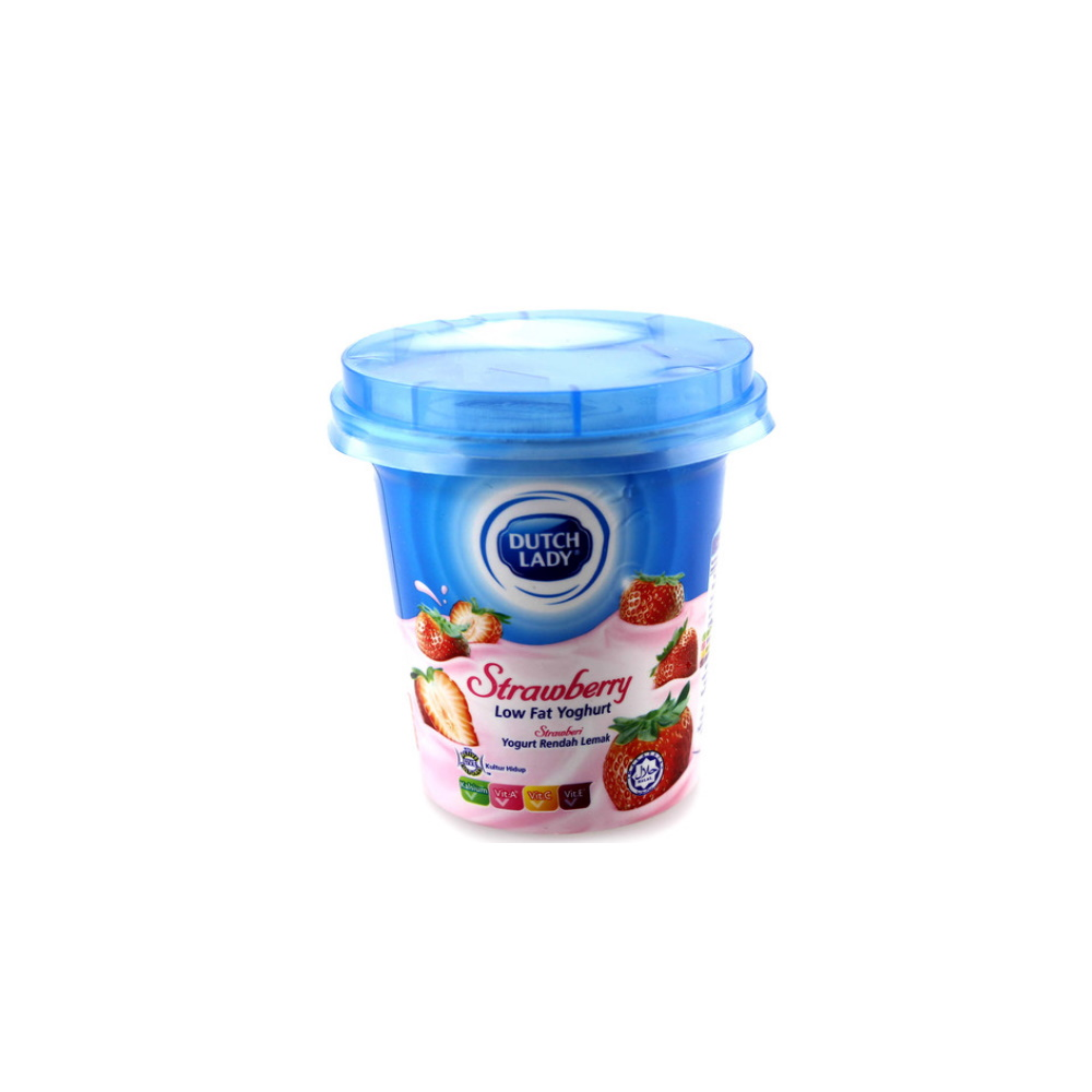 Dutch Lady Low Fat Yogurt Strawberry 140g | MyGroser